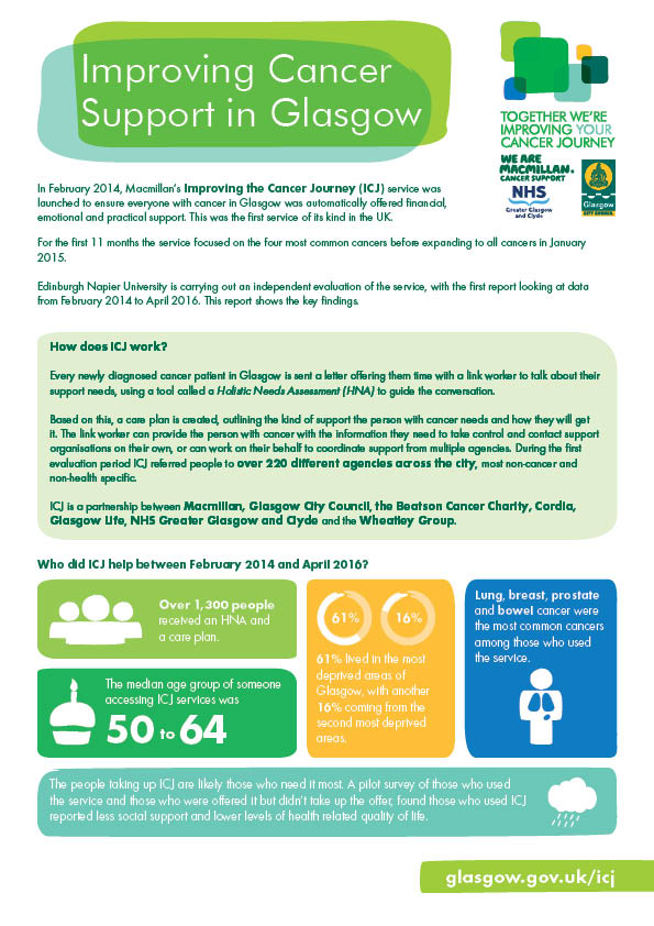 Macmillan's Improving the Cancer Journey first report